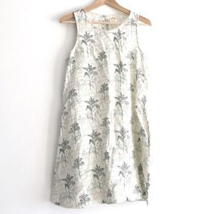 C&C California 100% Linen Palm Tree Dress Small